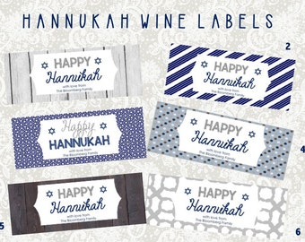 Hannukah Holiday Wine Labels