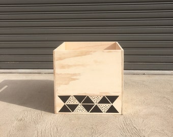 Tribal Triangles Toy Box (S)