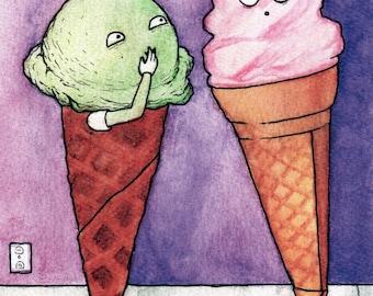 Whispering ice cream.