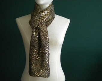 Gold/Black Fashion Scarf (Standard & Infinity)