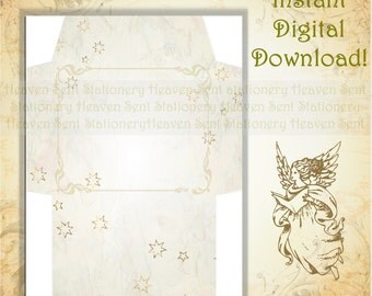 Printable Envelope, Digital Download Envelope, Marble Envelope, Vintage Style Envelope, Digital Envelope, Envelope Page, Stationery Paper