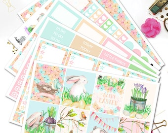 Easter Planner Stickers/Planner Stickers for Erin Condren/Pastel Planner Stickers/Watercolor Spring Stickers/Easter Stickers
