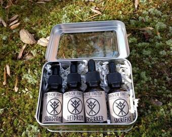 Premium Viking Beard Oil Gift Tin |Sample Kit |Sampler