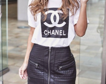 Chanel Inspired Women's Graphic T Shirt