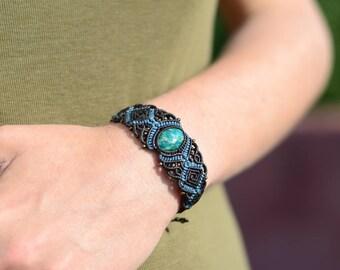 macrame bracelet amazonite