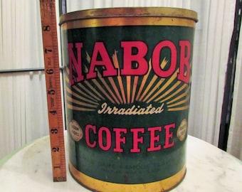 vintage 5 lb Nabob coffee tin