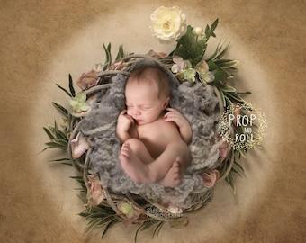 Digital Backdrops, Newborn digital, newborn digital backdrop, digital prop nest, baby nest,old rose photographie bébé,Neugeborene