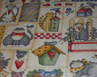 Cat Favorite Country Style Fabric With Much To See.