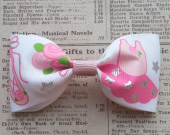 Ballerina Hair Bow, dance party favors, girls hair bows, ballerina favors, party favors, loot bag, cute hair bows, kawaii