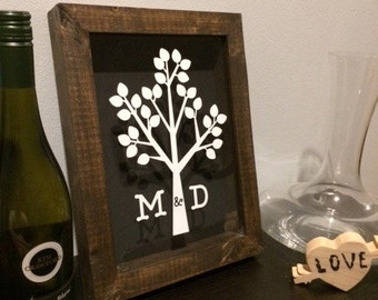 Personalized Shadow Box, Wedding Shadow Box, Custom Shadow Box, Wine Cork Shadow Box, Beer Cap Shadow Box, Handmade Shadow Box
