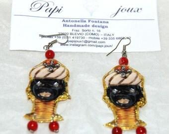 Moretti Venetian-inspired card earrings