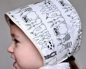 Mini-Crafts Baby Bonnet (reversible cotton , new-born up to 24 months)