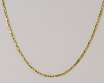 14k Yellow Gold Rope Chain/necklace 20''(01039)