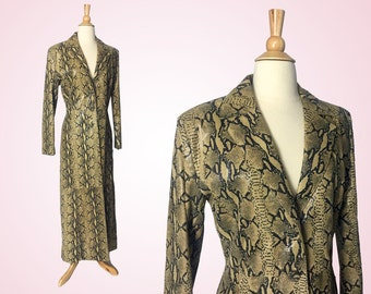 Wilson's Leather Python Print Trench, Size Small