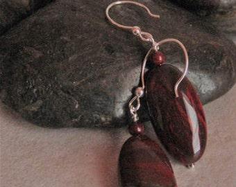 Apple Jasper earrings w/ Sterling Silver