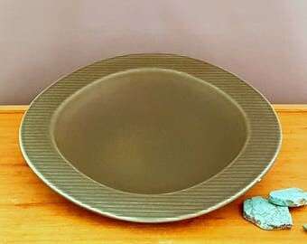 Large vintage Rörstrand Ritzi bowl by Gunnar Nylund, green pottery