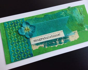 Handmade Art Card - Congratulations