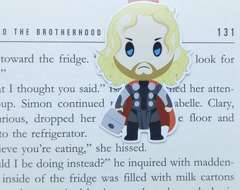 Magnetic bookmark - Thor || book lover gifts | marvel | bookmark | bookish | bookmarks | comics | magnetic bookmarks