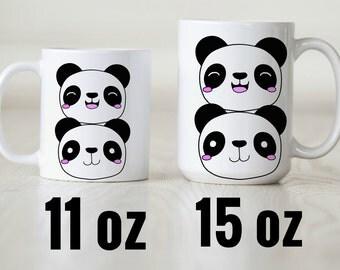 Panda Mug.  Kawaii Mug.  Cute Mug.  11 oz mug.  15 oz mug.  Home and living.