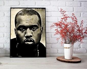 Kanye Art Vintage Kanye Print Kanye Wall Decor Kanye Wall Art Kanye Download Kanye Printable Kanye West instant download Kanye digital print