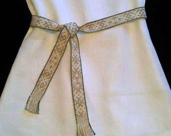 Linen Dress/Girls Dress/White dress/Lining linen dress/Kids Clothes/Girls clothes/summer dress/summer clothes/ handmade dress/