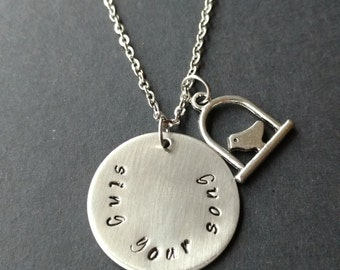 "Hand Stamped Stainless Steel Necklace ""Sing Your Song"", Handstamped Metal, Bird Necklace, Hand Stamped Jewelry, Handstamped Jewellery"