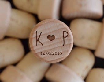 Wine Bottle Stopper - Wedding Favor for Guest - Wine Stoppers Decorative - Custom Wine Stoppers - Wood Wine Cork - Wedding Party Favors