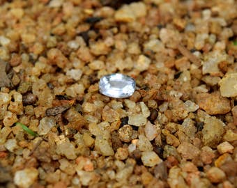 1.55 carat Natural White sapphire.Crystal Clear White sapphire.Natural cushion cut White sapphire for your engagement ring