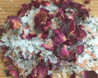 Geranium, Lavender & Rose / Bath salts