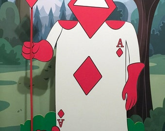 Card Soldier Diamonds - Alice in wonderland - Party decoration - Cut out/standee