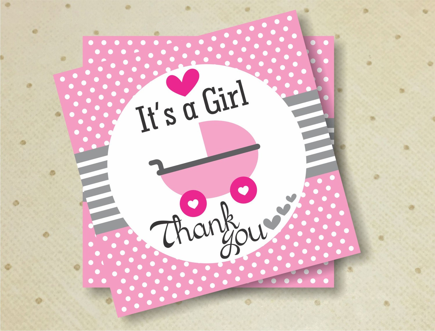 Printable Baby Shower Favor Thank You Tags For Girls. Stroller Thank You  Tags. Baby Shower. Thank You Tags. Itu0027s A Girl.