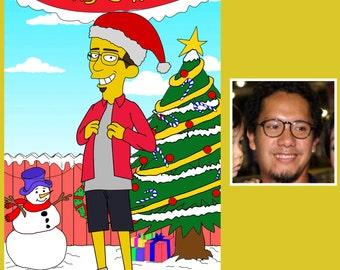 Custom Portrait, Cartoon Portrait, Couple Portrait, Custom Drawing, Christmas Portrait, Simpsons Art, Simpsons Drawing, Christmas Gifts