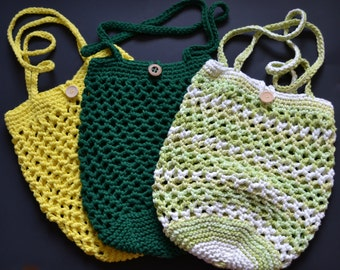 Bag, bag storage, crocheted, cotton, reusable, washable, eco-friendly, Tote, shoes, shopping bag, backpack vegetables, shopping