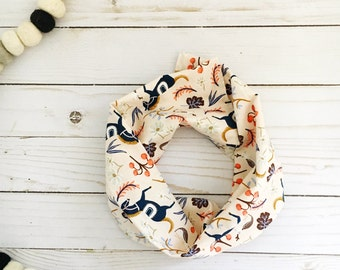 Toddler infinity scarf - Toddler scarf - Baby infinity scarf - Kids infinity scarf - Baby girl scarf -  Rifle Paper Co baby - Rifle Paper