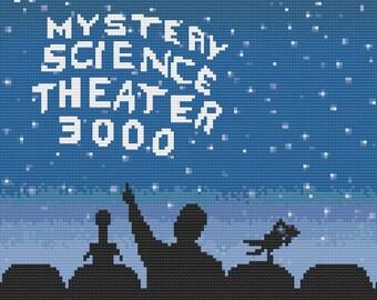 Movie Sign! -  Mystery Science Theater 3000 - MST3K - Cross Stitch PDF Pattern