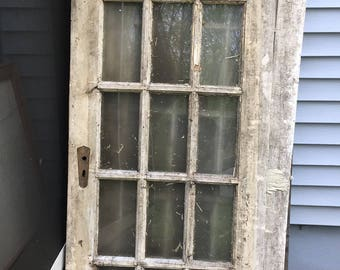 5 Antique 15 Pane Country Doors, Farmhouse Doors, 15 Pane Glass Doors, Vintage Doors