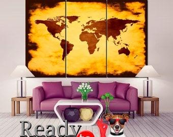 Print Map Poster, World map, Map Art, World Map Poster, Canvas World map, World Map Canvas, World Map Wall Art, Wall art world map