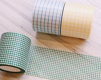 Beautiful Functional Grid Washi Tape Wide Extra Wide