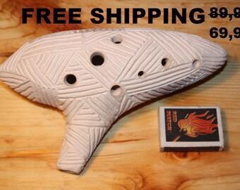 Fine tuned Ocarina in E-dur alto Free Shipping Ocarina instrument Ocarina pipe Fine Art Ceramic Folkmusic Musical instrument Songwriter