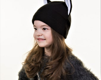 fleece hat with ears. pussycat. chanterelle. sly Fox. for young ladies. for girls. Free Shipping