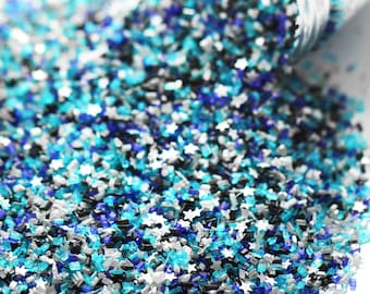 Stardust Fancy Glitter Sugar Crystals, Silver Edible Glitter, Star Sprinkles, Chunky Sugar, Outer Space Galaxy Sprinkles, Fancy Sprinkles