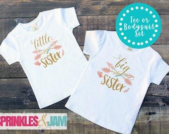 Big Sister Little Sister Shirts, Boho Arrow, Big Sister Little Sister Outfits
