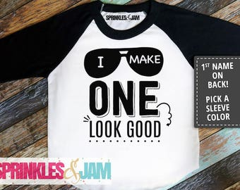 1st Birthday Boy Shirt, 1st Birthday Shirt, First Birthday Outfit, First Birthday Shirt, I Make ONE Look Good