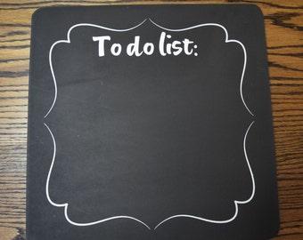 To Do List CHALKBOARD sign, vinyl sign, kitchen sign, square chalkboard, functional sign, honey do list sign, grocery list sign