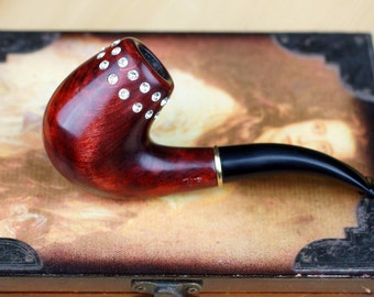 Smoking pipe- Tobacco pipe -Wooden pipe-Tobacciana pipe -Exclusive Wood Pipes -Tobacco Smoking Pipes- Wood carved smoking pipe -Women's pipe