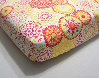 Baby Bedding girl Crib Sheet girl Boho nursery Girl baby bedding Girl crib sheet Coral nursery Yellow nursery