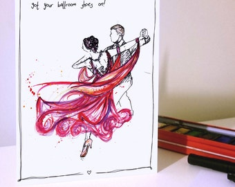 Ballroom Dancing Dress Card, Waltz, Tango, Salsa, Latin, Dancers, Dancing