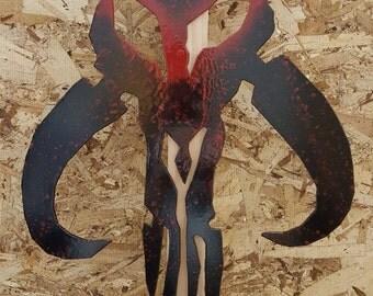 Metal Star Wars Mandalorian symbol
