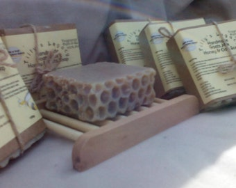 100% Natural, Goats Milk, Honey and Oats Soap. Fragrance Free, Palm & SL Free 100g