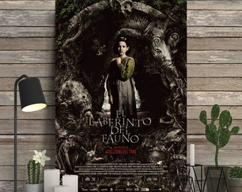 PAN'S LABYRINTH - Poster on Wood, Guillermo del Toro, Ivana Baquero, Ariadna Gil, Unique Gift, Birthday Gift, Wood Gift, Movie Print